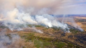 The blaze has burned through over 3,000 hectares in a week
