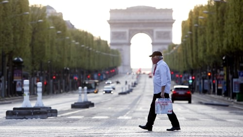 The French economy slumped by a record 13.8% in the second quarter due to Covid-19