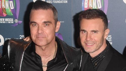 Robbie Williams and Gary Barlow entire fans via social media
