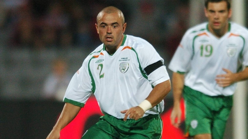 Stephen Carr in action for Ireland back in 2007