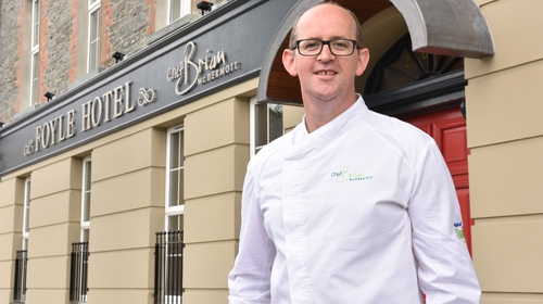 Brian McDermott outside his now shut hotel in Co Donegal