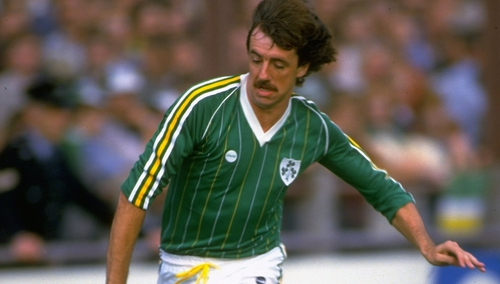 Mark Lawrenson in action for the Republic of Ireland