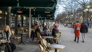 Cafes and bars have remained open in Stockholm