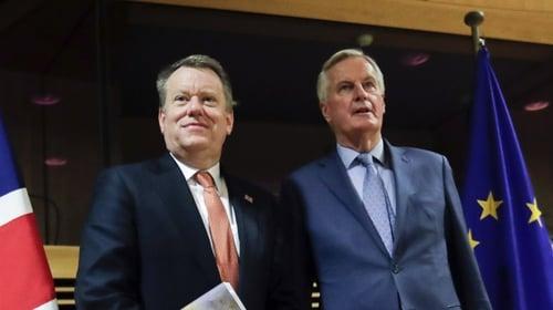 Britain and European Union revive Brexit talks by video amid coronavirus crisis