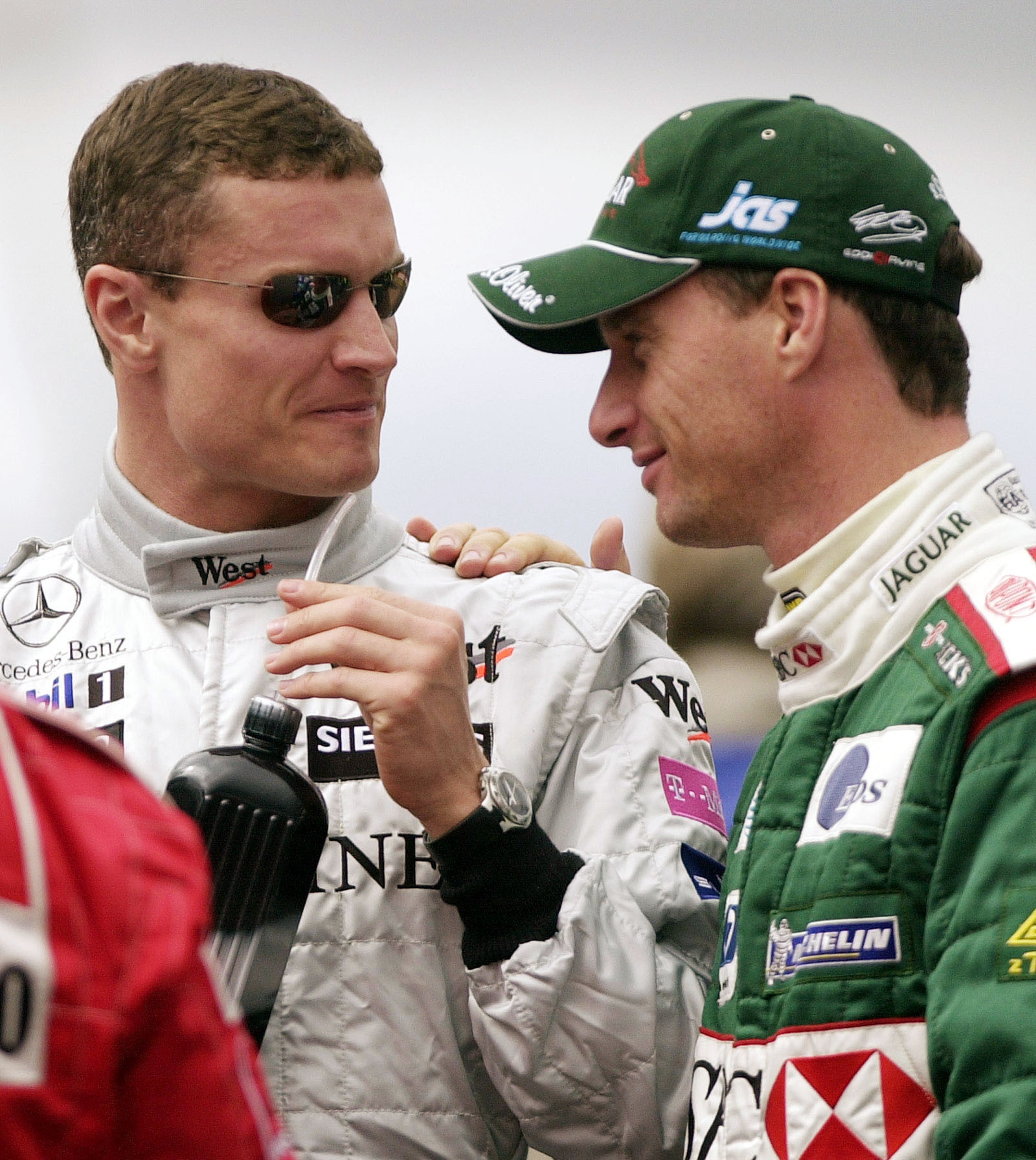 Image - Coultard and Irvine in 2003 with McLaren and Jaguar respectively