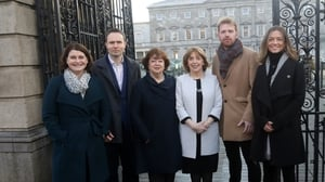 Social Democrats TDs (L-R)  Jennifer Whitmore, Cian O'Callaghan, Catherine Murphy  Róisín Shortall, Gary Gannon and Holly Cairns (Pic: RollingNews.ie)