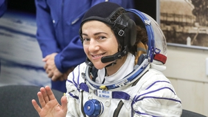 Jessica Meir pictured ahead of her departure to the ISS