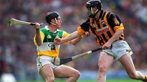 Offaly's Brian Whelahan in action against Kilkenny's Peter Barry in the 2000 All-Ireland final