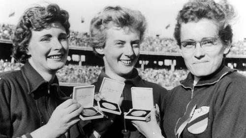 (Left to right): Marlene Matthews, Betty Cuthbert and Christa Stubnick