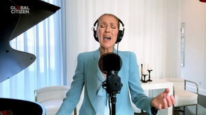 Celine Dion singing in the recent One World collaboration, April 20