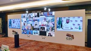 The virtual G20 summit was chaired by Saudi Arabia (Pic: G20 Saudi Arabia/Twitter)