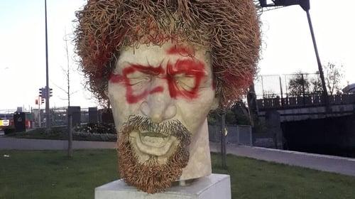 The statue of Luke Kelly was vandalised last night in Dublin