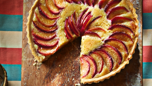 """""""I love juicy fresh plums and their rich and seductive flavour works perfectly with the velvety almond base,"""" the TV foodie notes in Ainsley's Mediterranean Cookbook."""