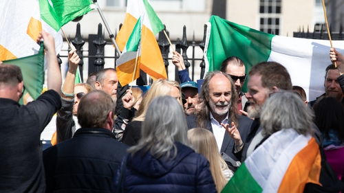 People gathered outside Four Courts in Dublin (Pic: Tom Honan/Irish Times)