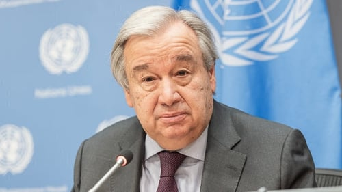 Antonio Guterres has cautioned governments against bailing out heavily polluting industries