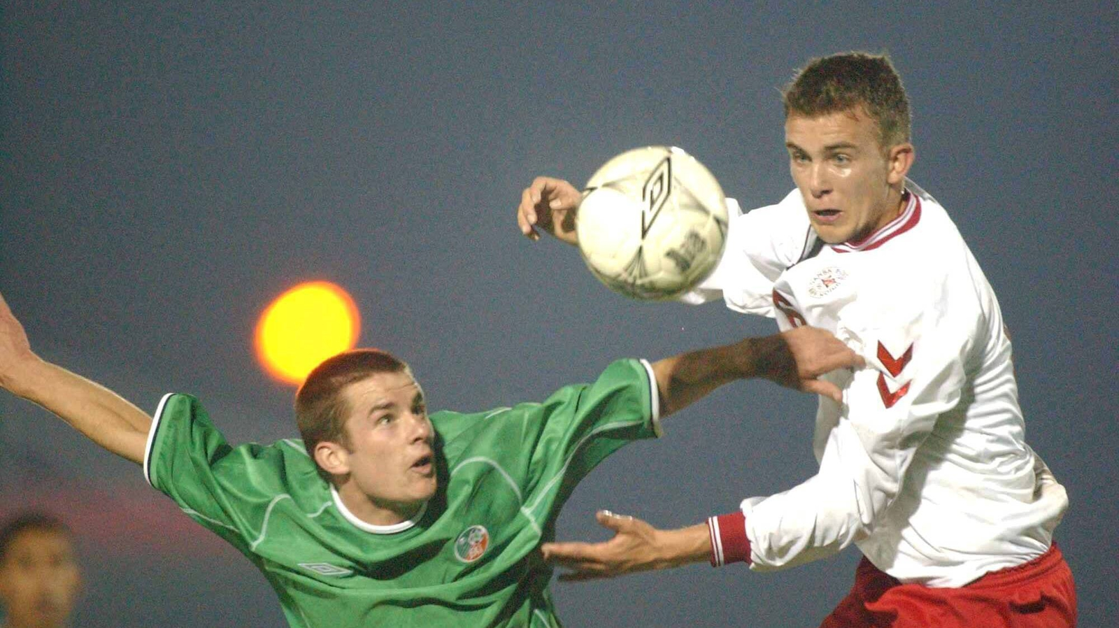 Image - In March 2002, Doyle (l) would win another U21 cap, coincidentally against Denmark