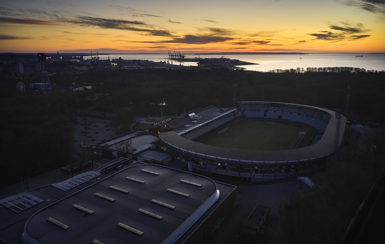 Image - An aerial view of AGF Aarhus' home ground