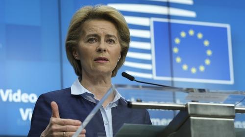 European Commission President Ursula Von Der Leyen speaking today