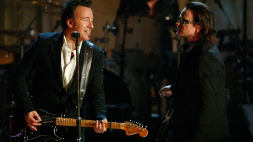 Bruce Springsteen and Bono have contributed to the Incognito art show