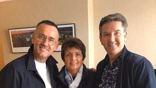 Keys to My Life host Brendan Courtney with Margo and her brother Daniel O'Donnell