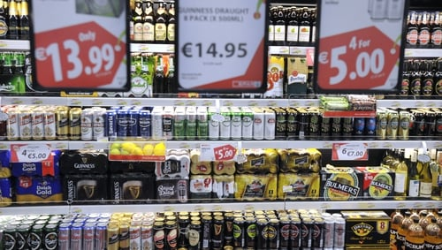 In total sales of drink reached €49.3m in the week to the end of 12 April