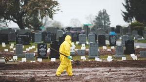 Confirmed US deaths just before 2200 GMT stood at 100,047, with 1.69 million infections