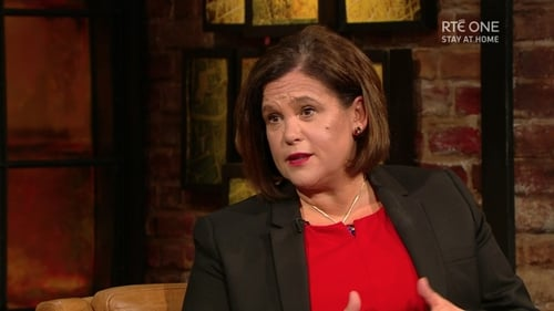 Mary Lou McDonald who appeared on The Late Late Show in April to talk about her battle with Covid-19