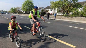 Dylan Moran and his father Declan completed their marathon cycle today