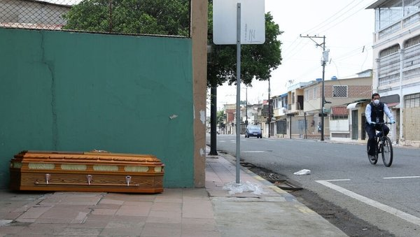 An abandoned coffin in Guayaquil, Ecuador