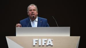 Honorary FIFA member Michel D'Hooghe