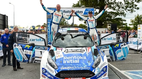 Craig Breen (R) and co-driver Paul Nagle were the 2019 champions