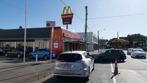 Long queues of cars snaked up to McDonald's outlets in Auckland and Wellington