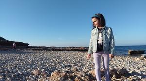 Six-year-old Maya Serrano Garcia enjoys the outdoors following life in lockdown