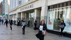 Debenhams' workers have been picketing the 11 stores around the country