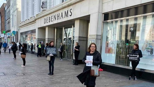 Protests are taking place at 10of the company's stores across the country