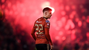 Paddy Kirk in the colours of Bohemians