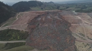 60,000 tonnes of rubbish spilled out of the dump