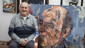 Denis Goldberg poses for portraits in his home at Hout  Bay, South Africa, in 2018