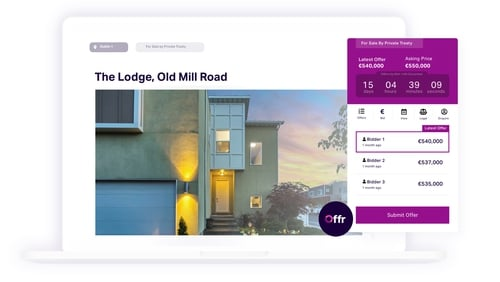 The Offr platform allows real estate agents and auctioneers to offer the entire online sales process through their own existing websites
