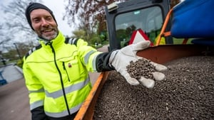 Authorities in Lund took the opportunity to spread one tonne of chicken droppings in the city's main park to deter gatherings