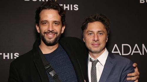 Nick Cordero and Zach Braff in New York in April 2019