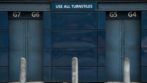 The turnstiles remain locked at Croke Park