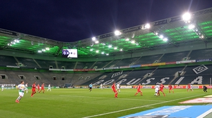 A behind closed doors game between Borussia Monchengladback and Cologne on 11 March