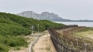 The exchange of gunfire took place at the demilitarized zone on the border between North and South Korea