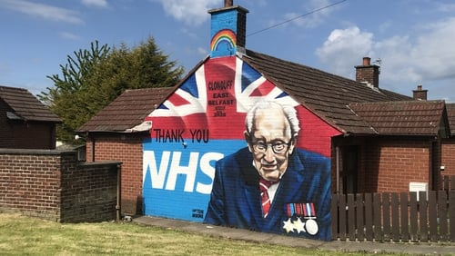 Gratitude to the NHS is the new message on many murals in Northern Ireland