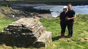 Jenny and Carl O'Connell, who live beside St Fíonnán's Well