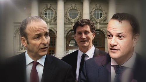 The meeting took place between the leaders of Fianna Fáil, the Green Party and Fine Gael