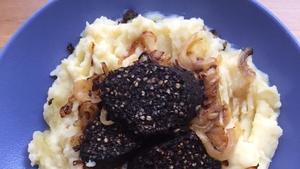 Mashed Potato with Black Pudding