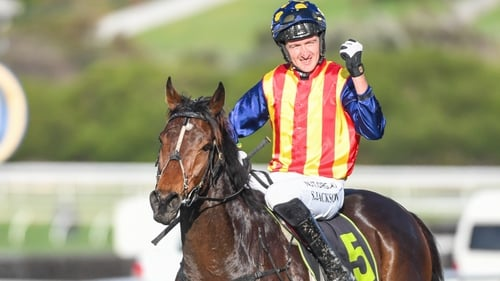 Shane Jackson rode Ablaze to victory in the Annual Steeplechase in Australia