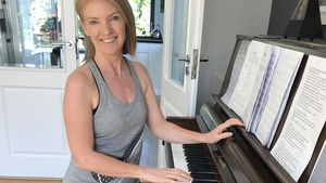 Joanna at the piano in the family home in recent days